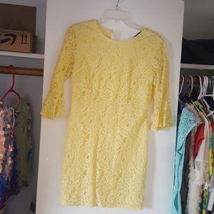 Lacy yellow dress